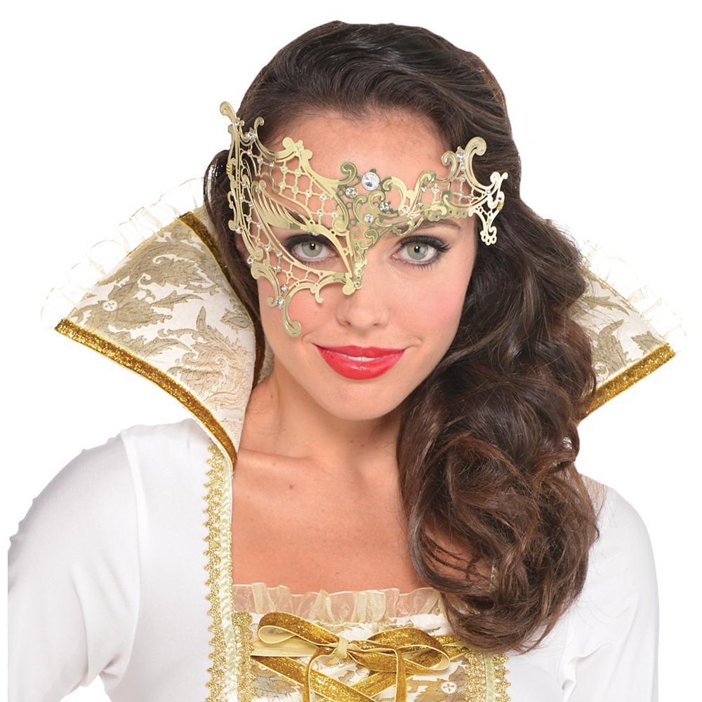 Gold Filigree Half Mask Image #2