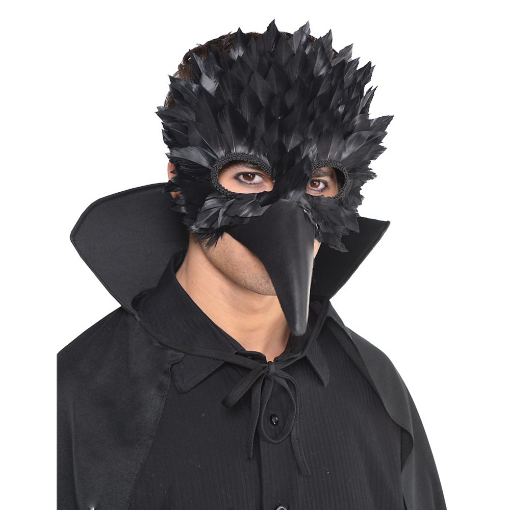 4112744518aa3 ... Nav Item for Black Crow Feather Mask Image  2