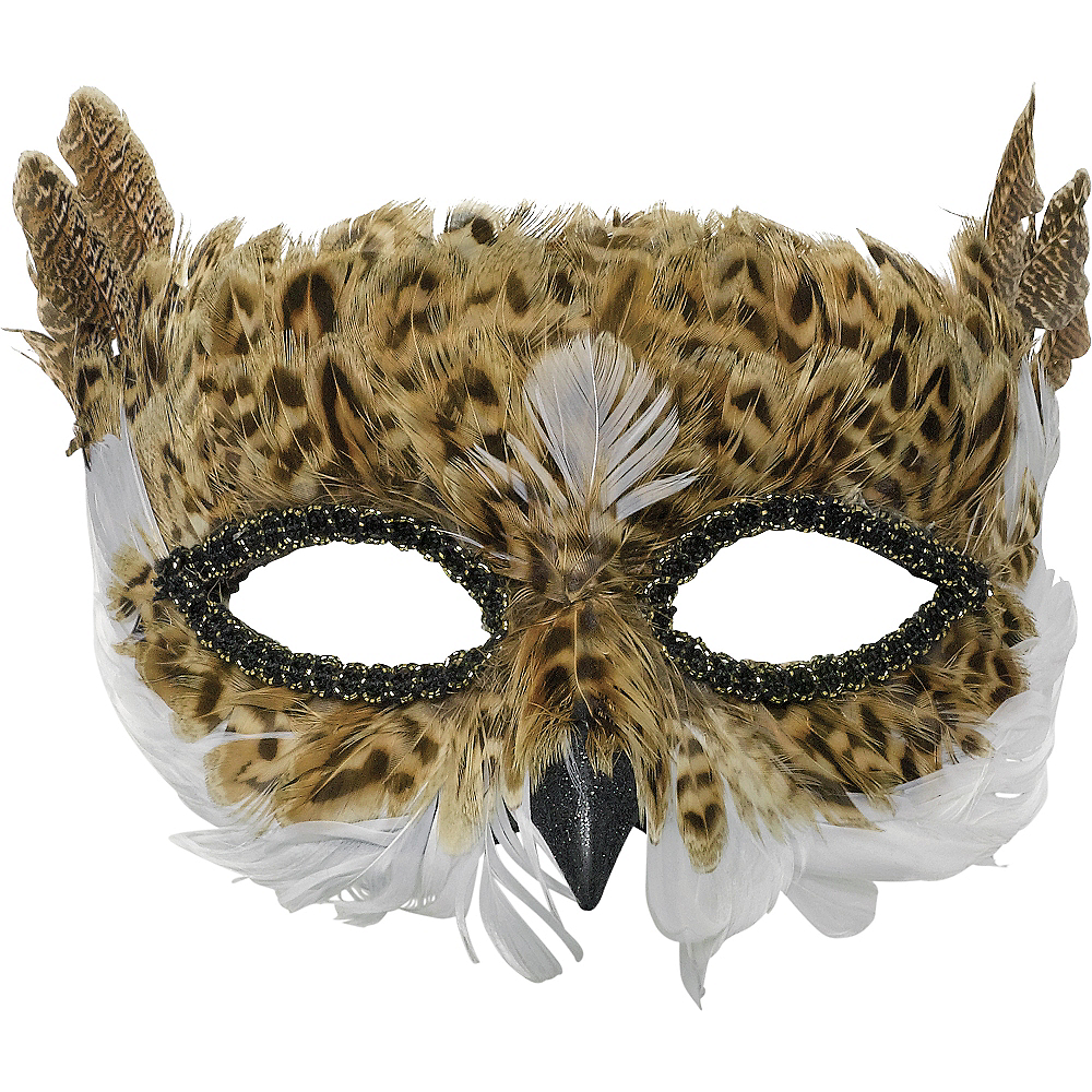 Hen Party Feather Eye Masks x 6