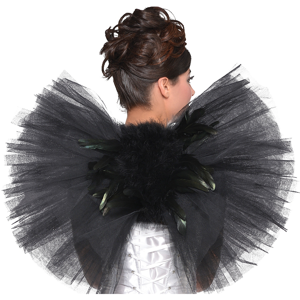 Black Tulle & Feather Wings Image #1