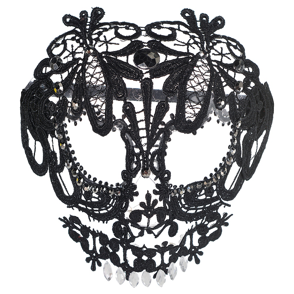 Black Lace Skeleton Mask Image #1