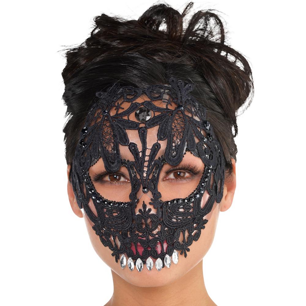 Black Lace Skeleton Mask Image #2