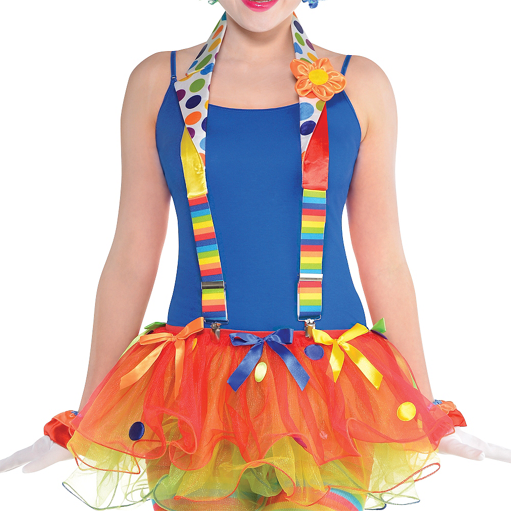 Polka Dot Rainbow Clown Suspenders Image #2