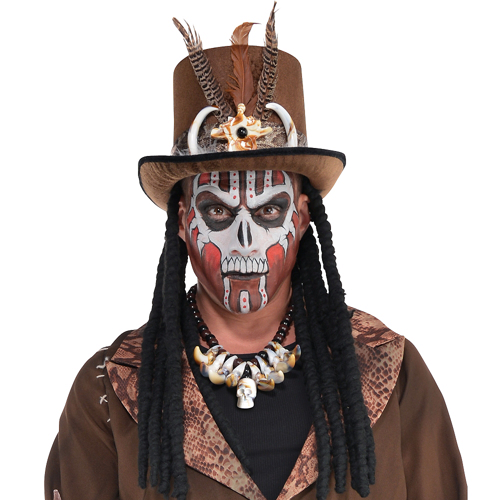Witch Doctor Top Hat with Dreads Image #2