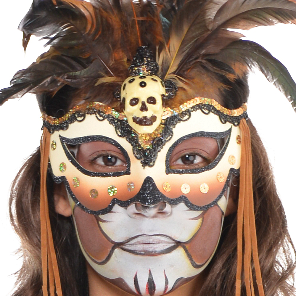 Witch Doctor Masquerade Mask Image #2
