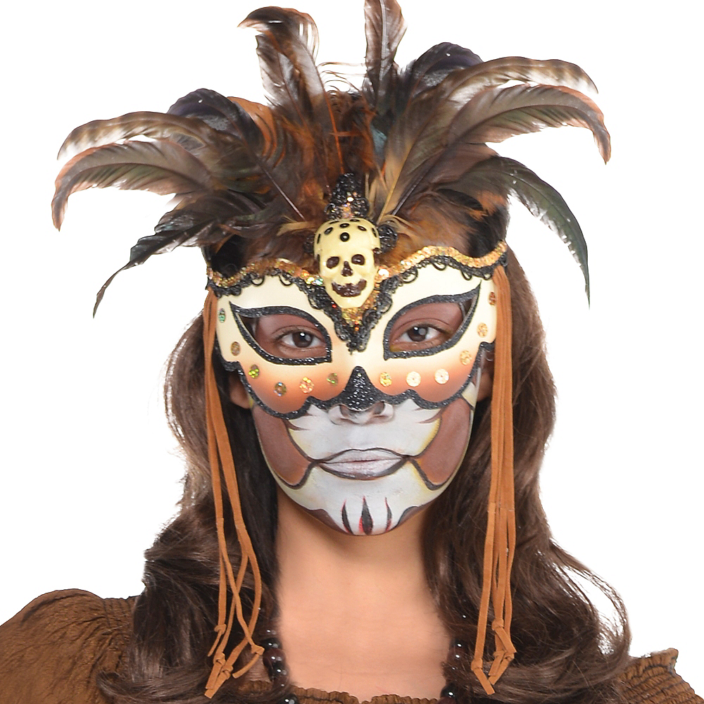 Witch Doctor Masquerade Mask Image #3