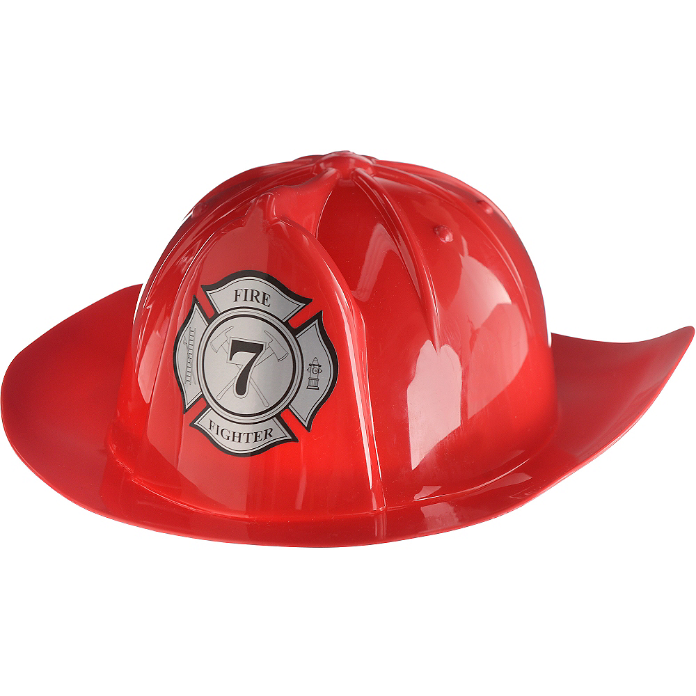 Bright Red Fireman Hat Image #1