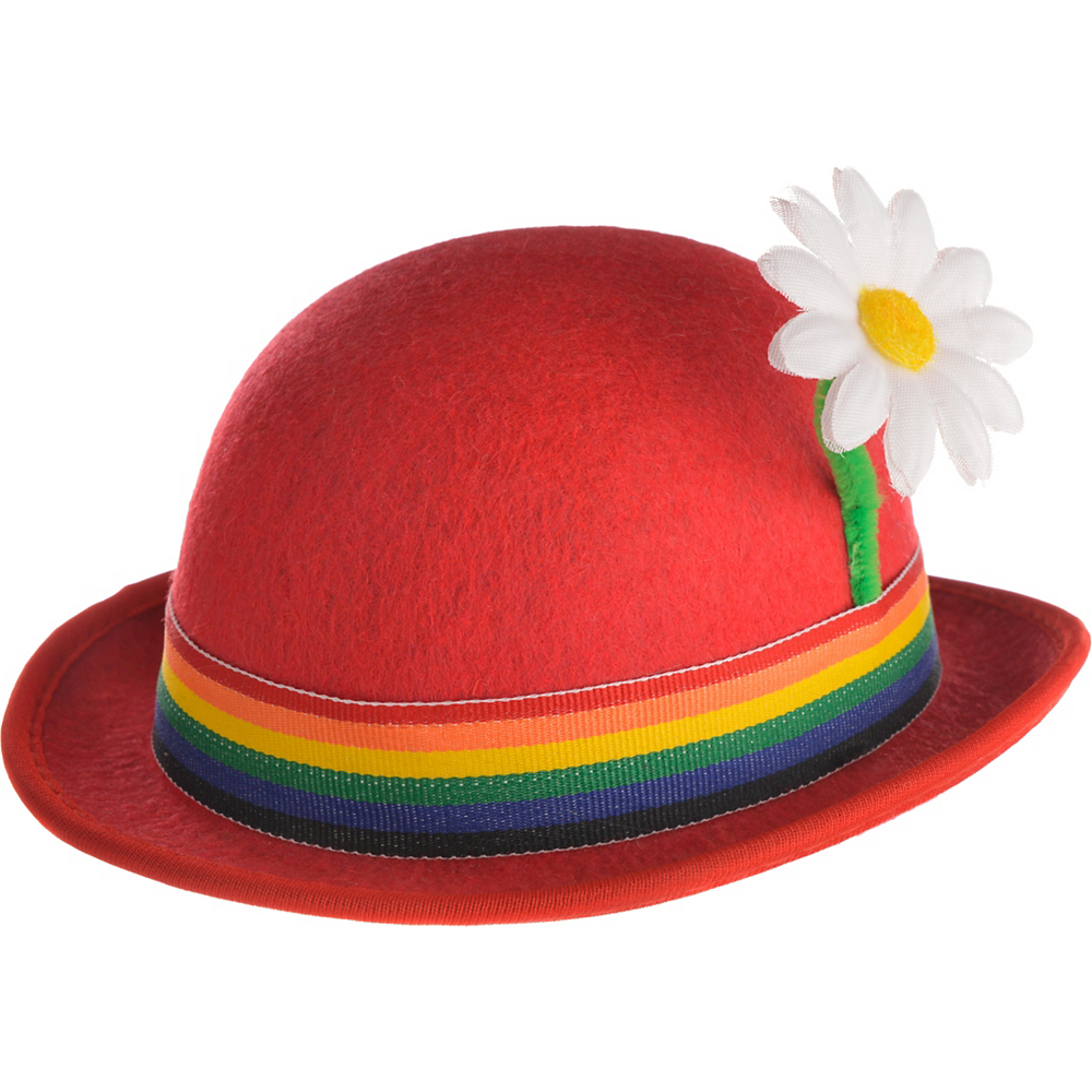 Red Clown Mini Derby Hat Image #2