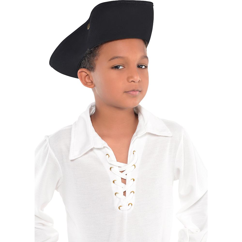 Child Black Pirate Hat Image #3