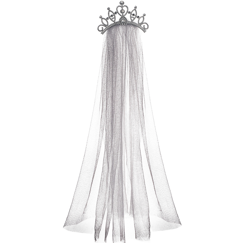 Tiara with Gray Veil Image #1