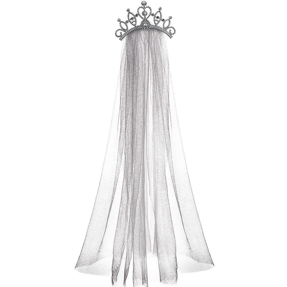 Tiara with Gray Veil Image #1