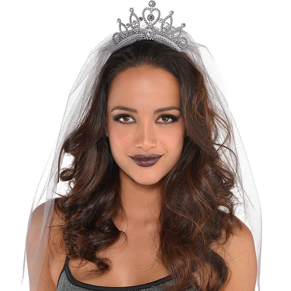 Tiara with Gray Veil Image #2