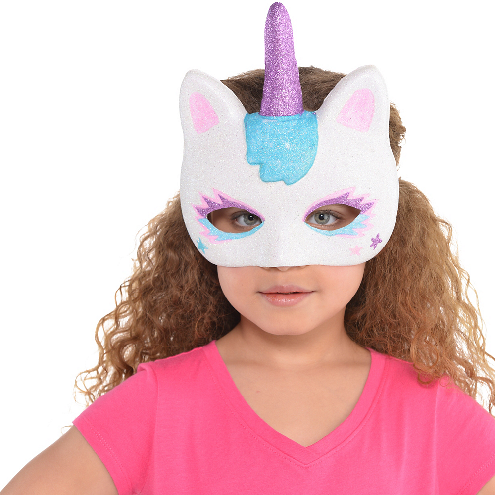 Child Glitter Unicorn Mask Image #2