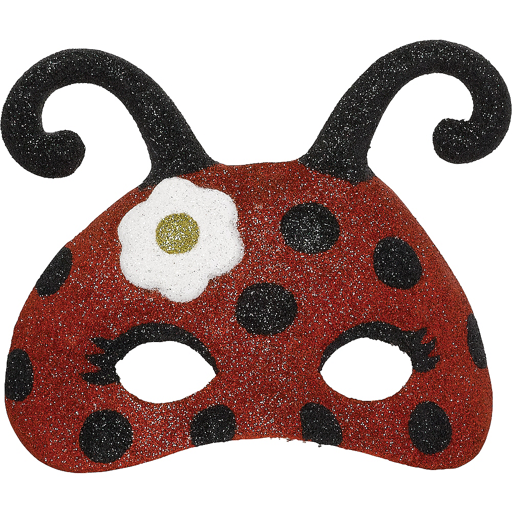 Nav Item for Child Glitter Ladybug Mask Image #1