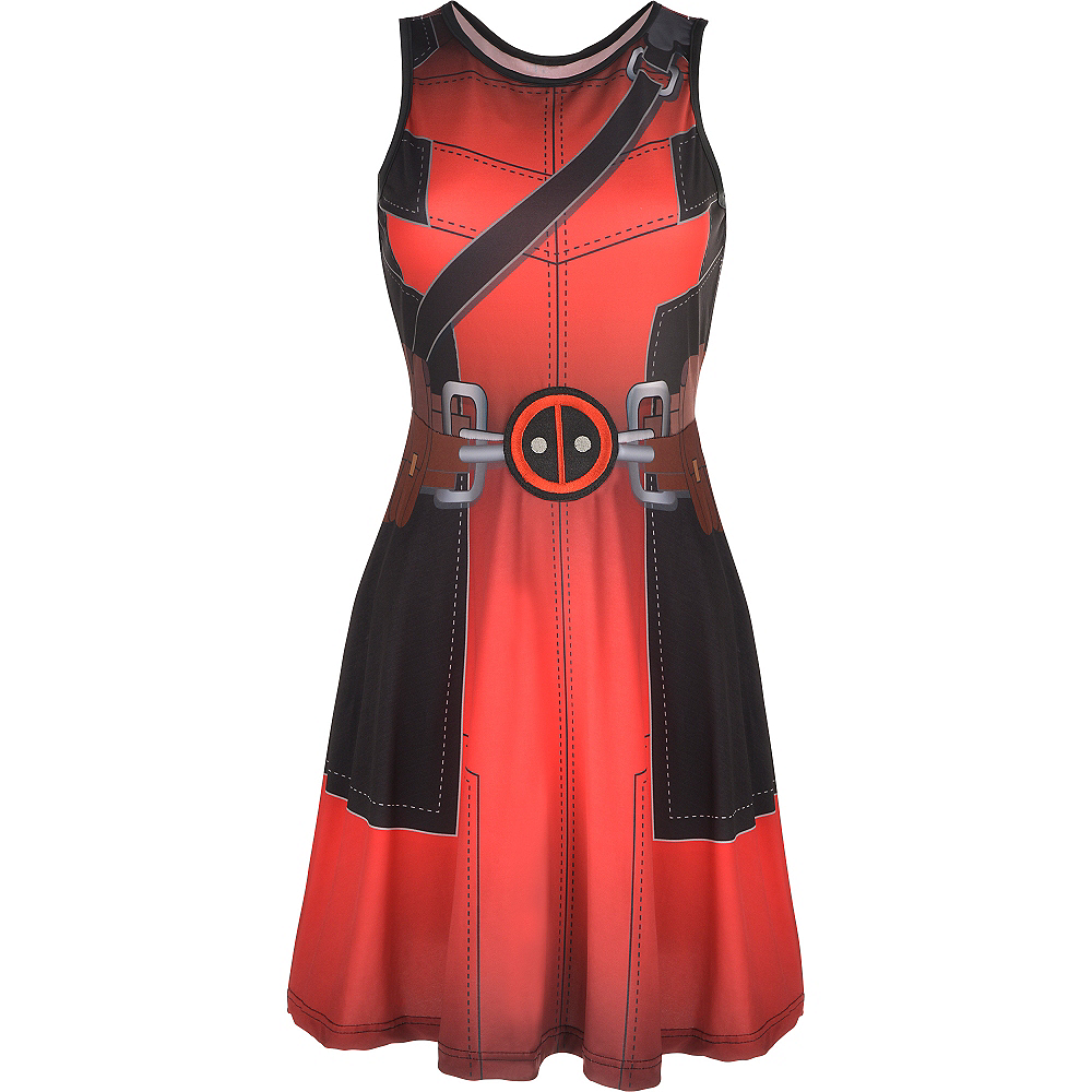 Fit & Flare Deadpool Dress Image #2