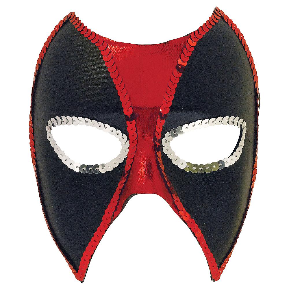 Sequin Trim Deadpool Mask Image #1