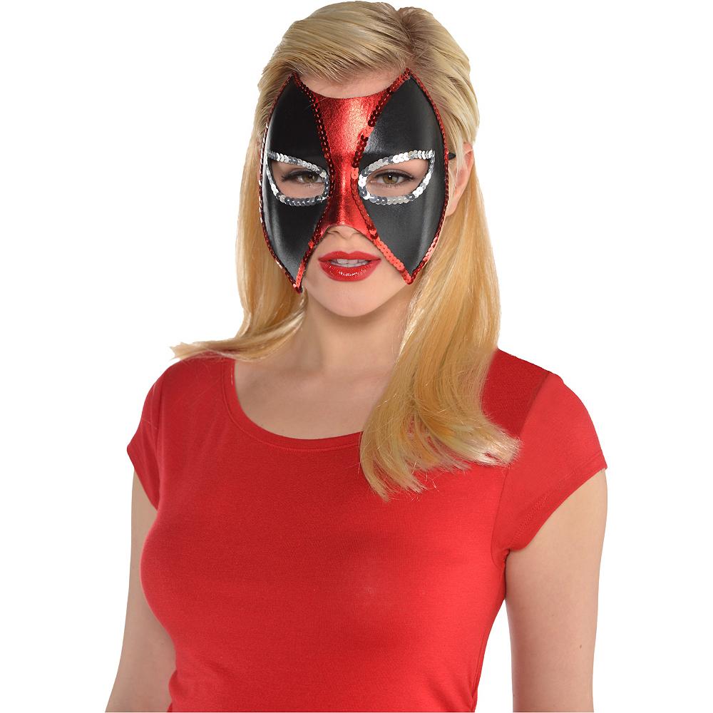 Sequin Trim Deadpool Mask Image #2