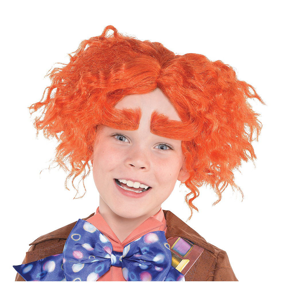Child Mad Hatter Wig & Eyebrows - Alice Through the Looking Glass Image #1