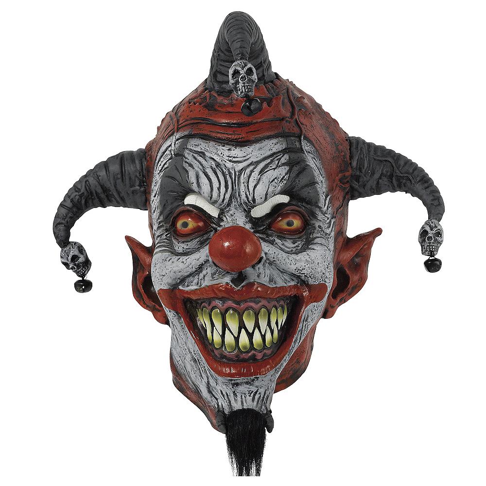 Evil Grin Killer Clown Mask Image #1
