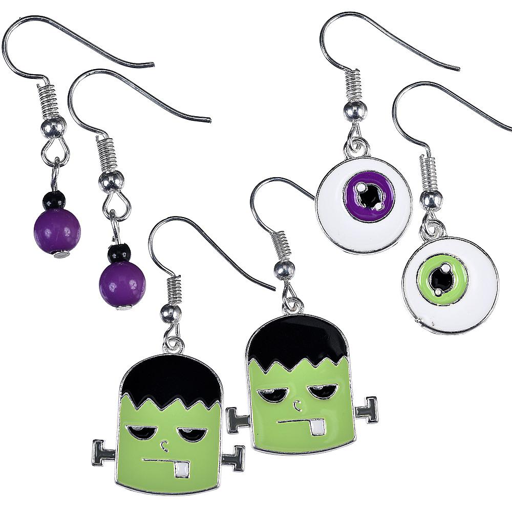 Eyeball & Monster Halloween Earrings Set 6pc Image #1