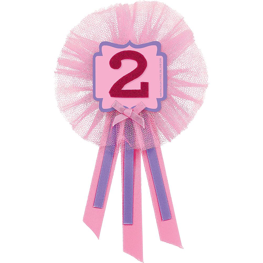 Pink 2nd Birthday Award Ribbon Image #1