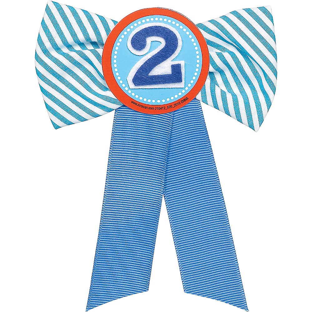 Blue 2nd Birthday Award Ribbon Image #1