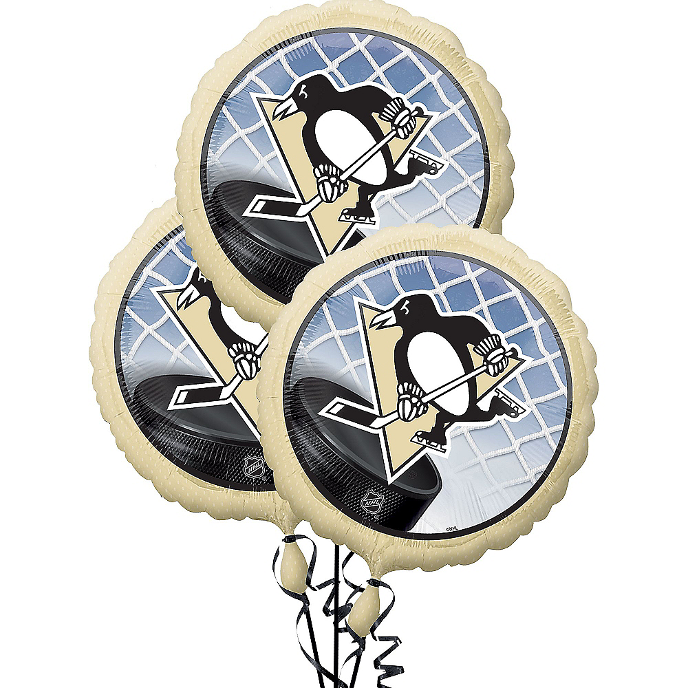 Pittsburgh Penguins Balloons 3ct Image #1