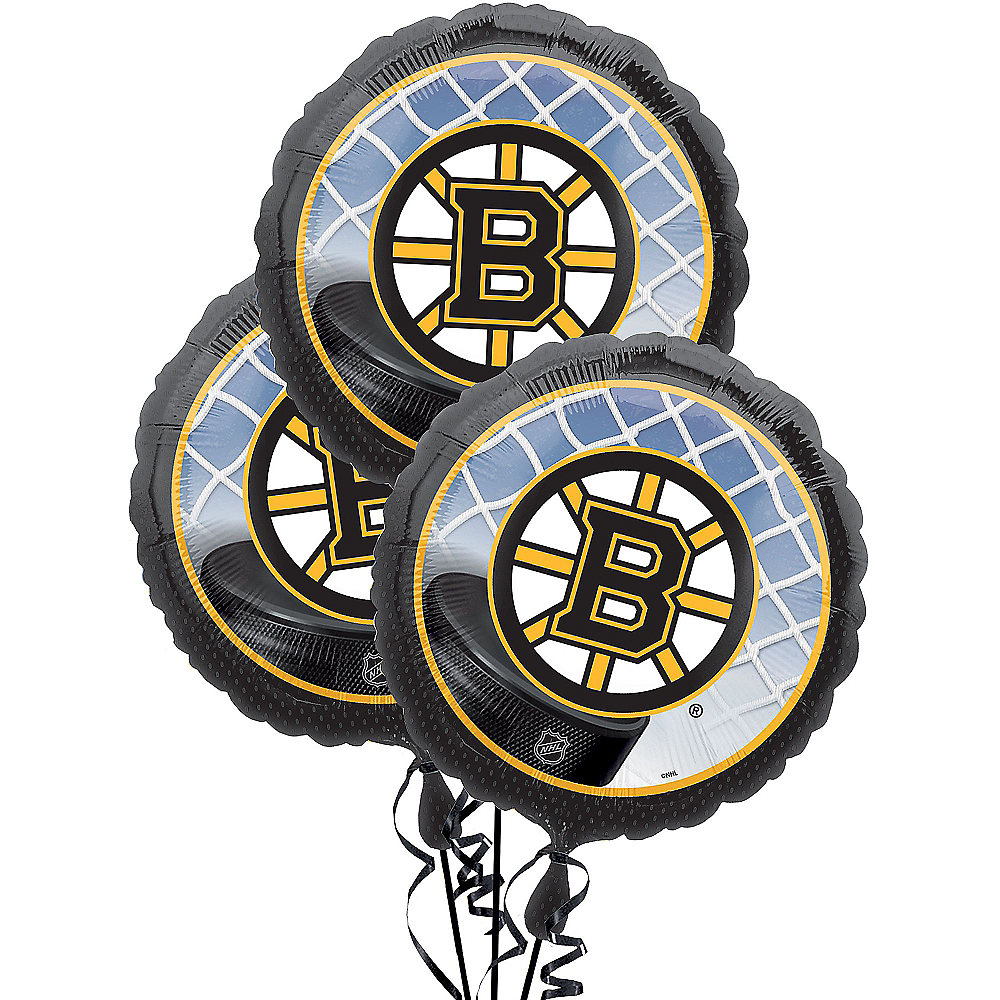 Boston Bruins Balloons 3ct Image #1