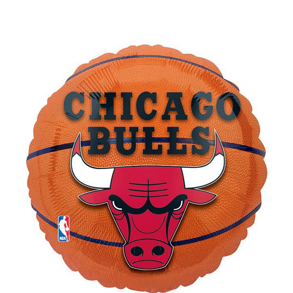 Chicago Bulls Balloon Bouquet 5pc - Basketball Image #2