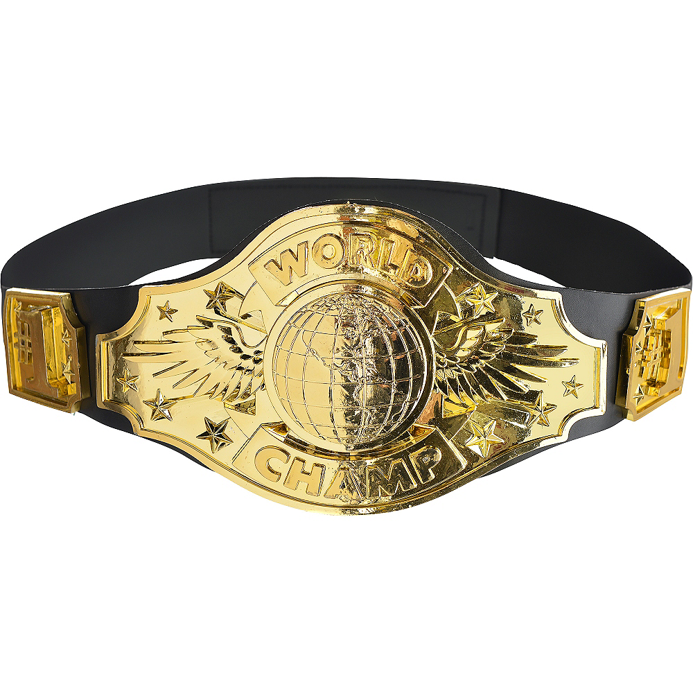 gold championship belt party city