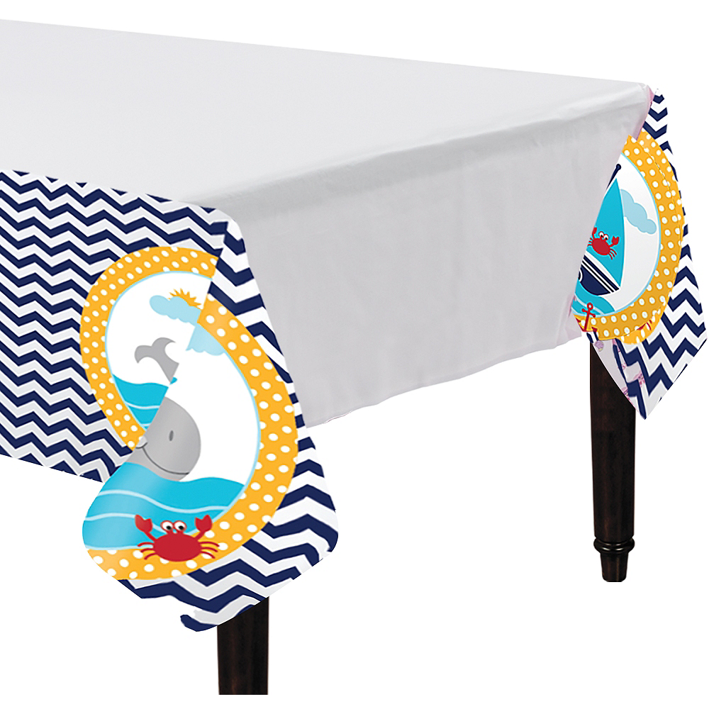 Ahoy Nautical Table Cover Image #1