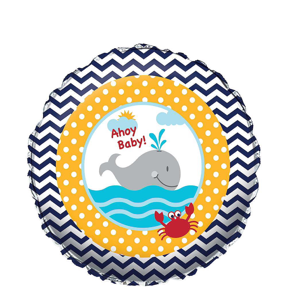 Ahoy Nautical Baby Shower Balloon Image #1