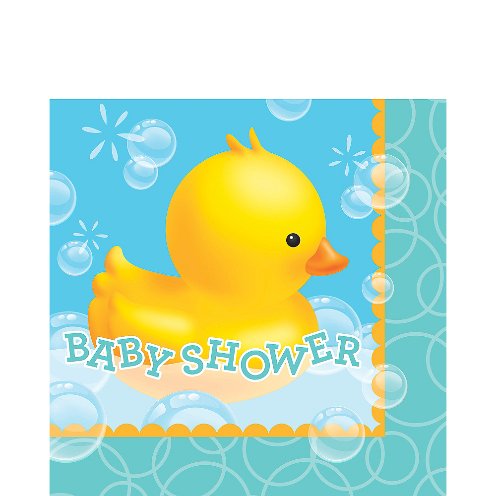 Rubber Ducky Baby Shower Letters Lunch Napkins 16ct Image #1
