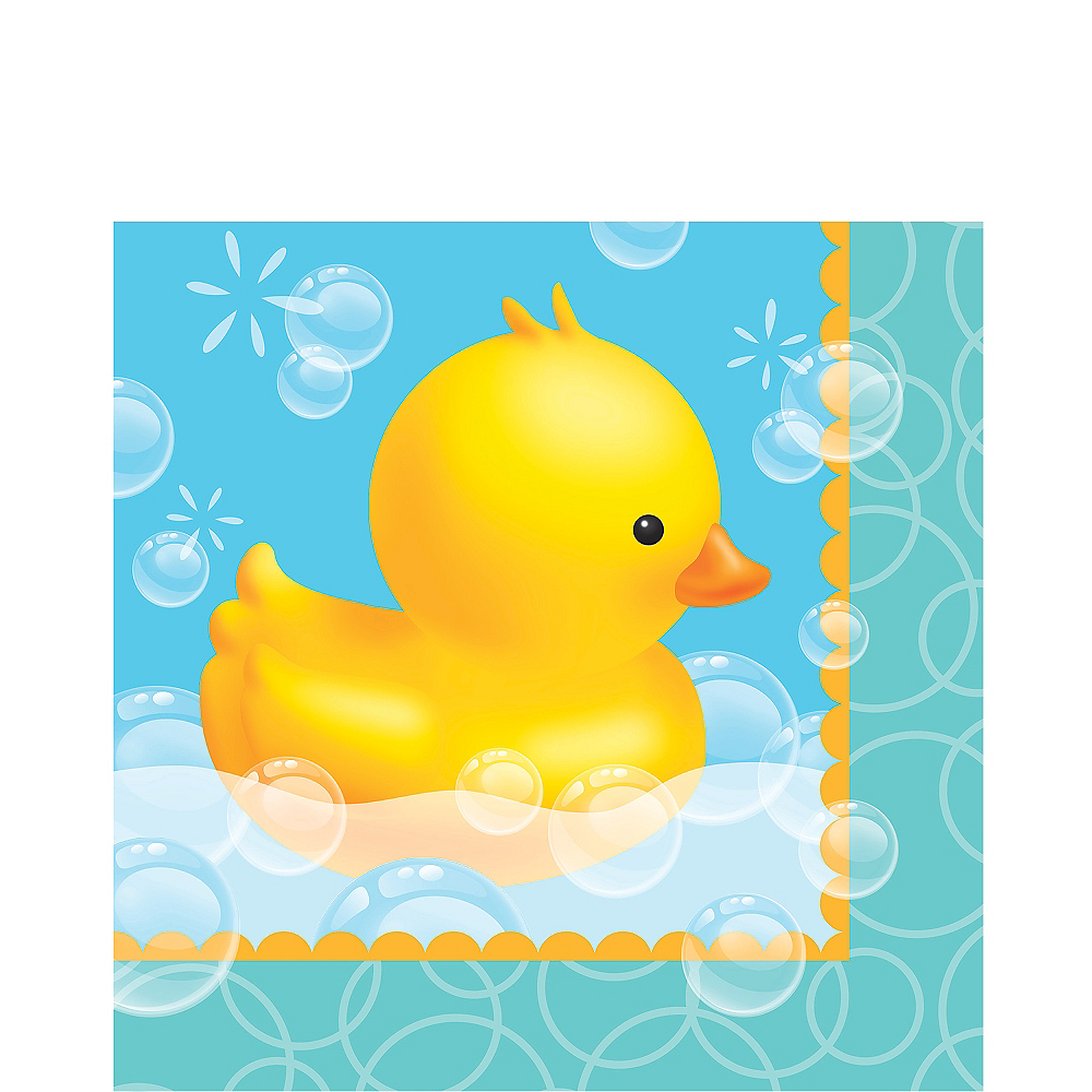 Rubber Ducky Baby Shower Lunch Napkins 16ct Image #1