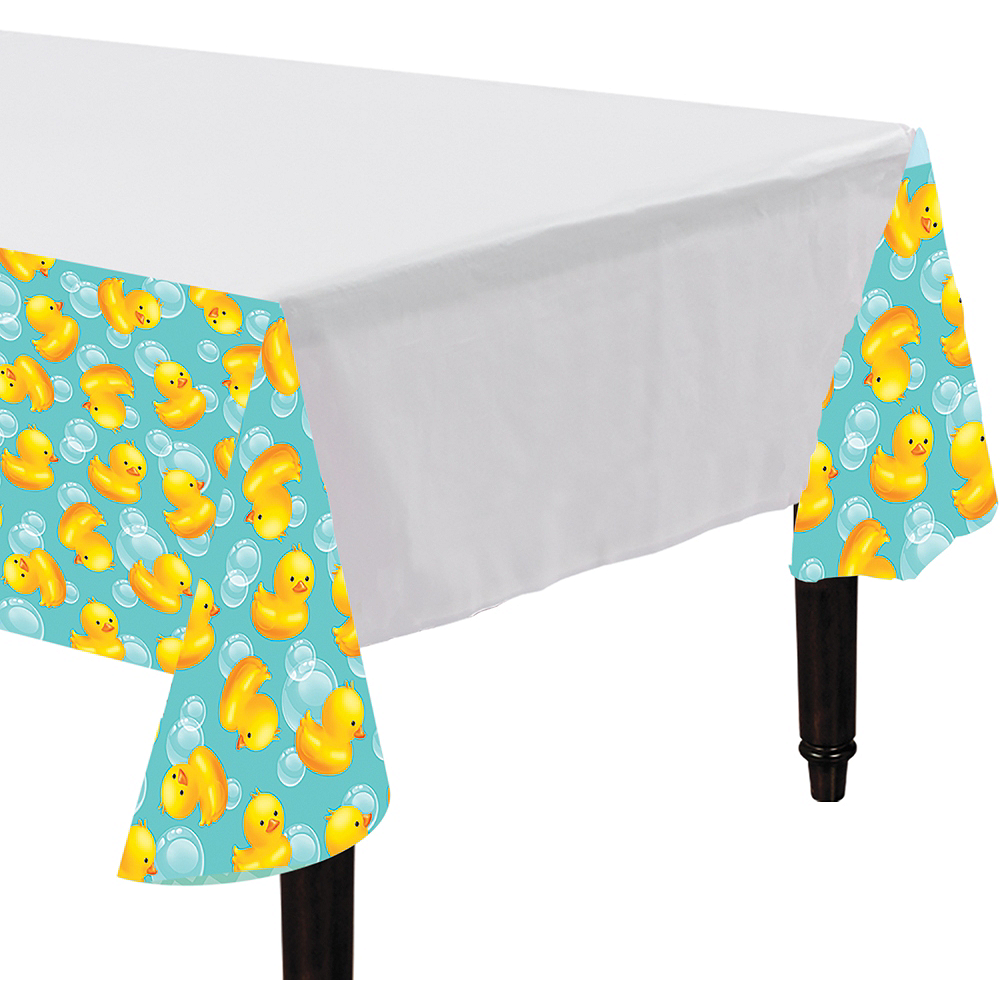 Rubber Ducky Baby Shower Table Cover Image #1