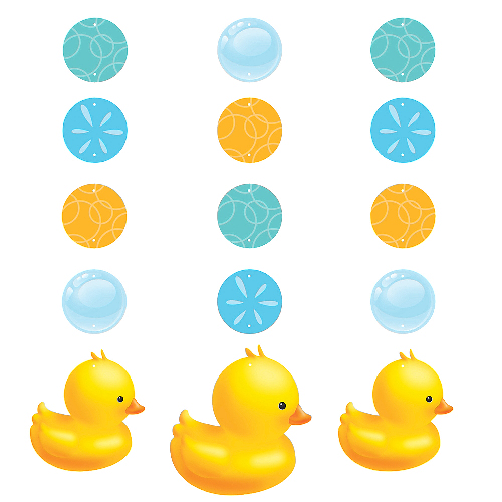Rubber Ducky Baby Shower String Decorations 3ct Image #1