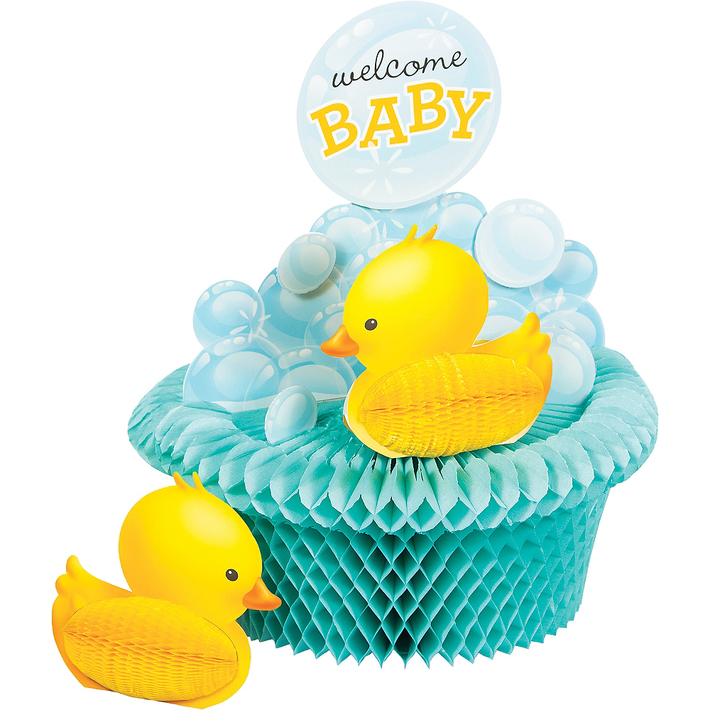 Bubble Bath Baby Shower Honeycomb Centerpiece 10in x 12in   Party City