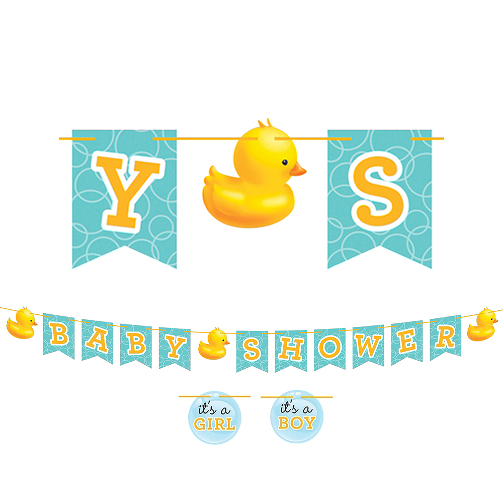 Nav Item for Rubber Ducky Baby Shower Letter Banner Image #1