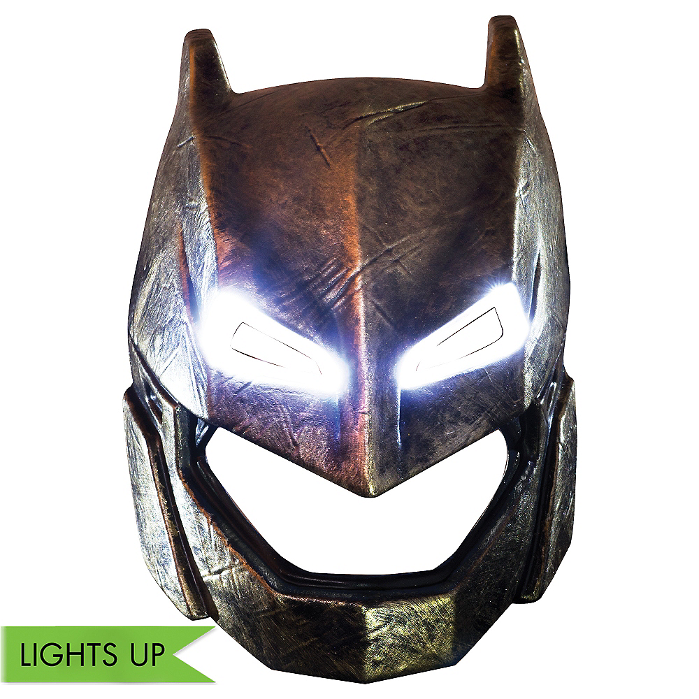 Adult Light-Up Armored Batman Mask - Batman v Superman: Dawn of Justice Image #1