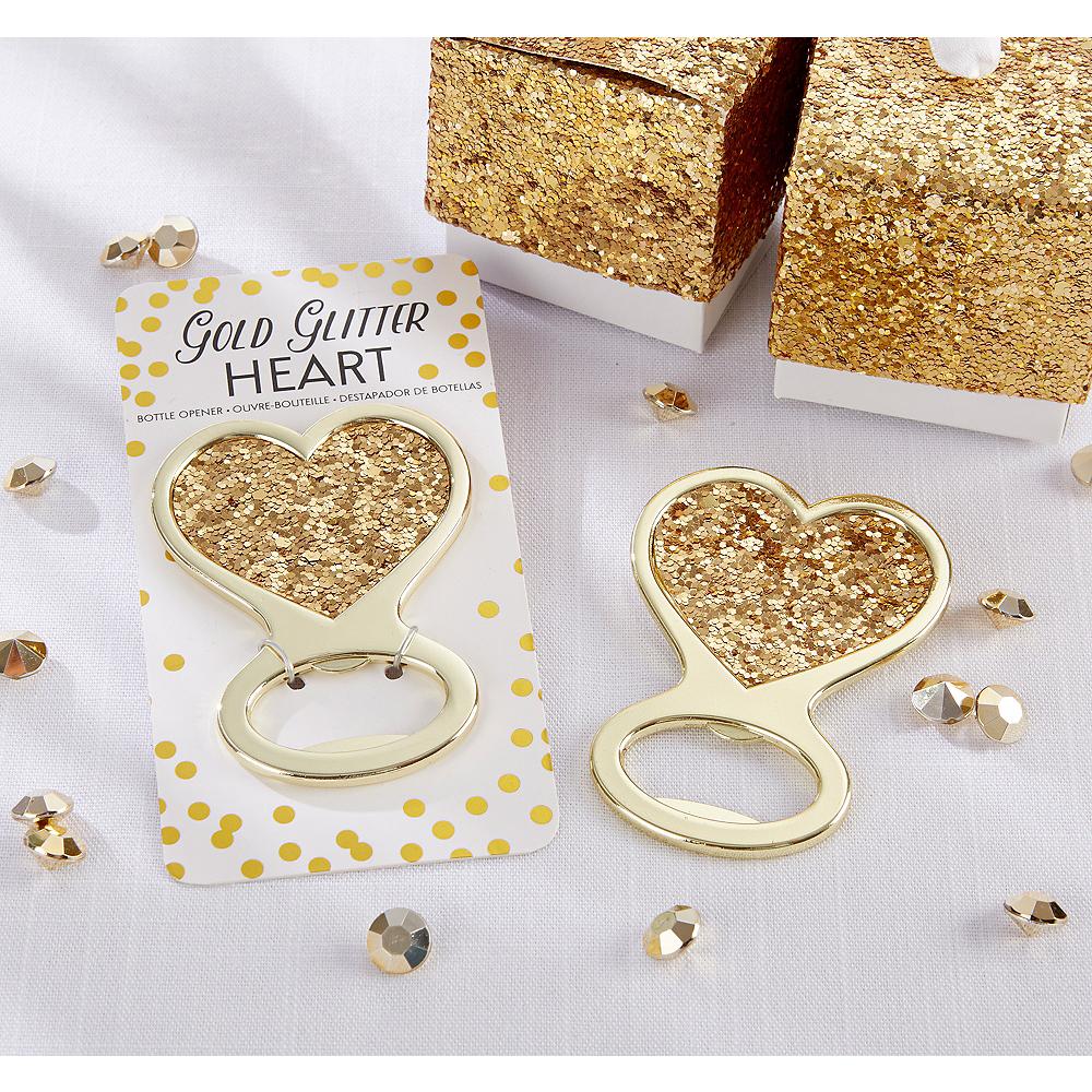 Gold Glitter Heart Bottle Opener Image #1