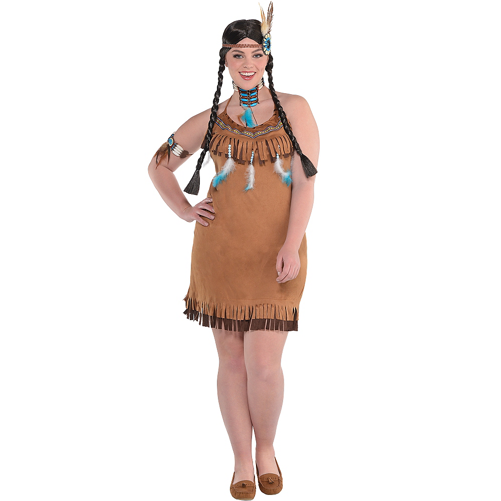 Native American Fringe Dress Plus Size Image 2