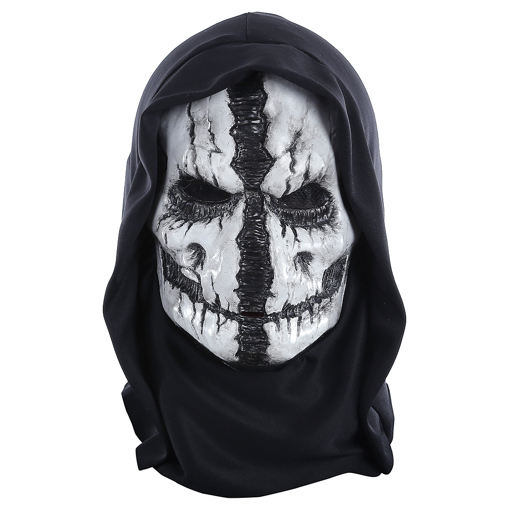 Grim Reaper Mask With Hood 7in X 9in Party City