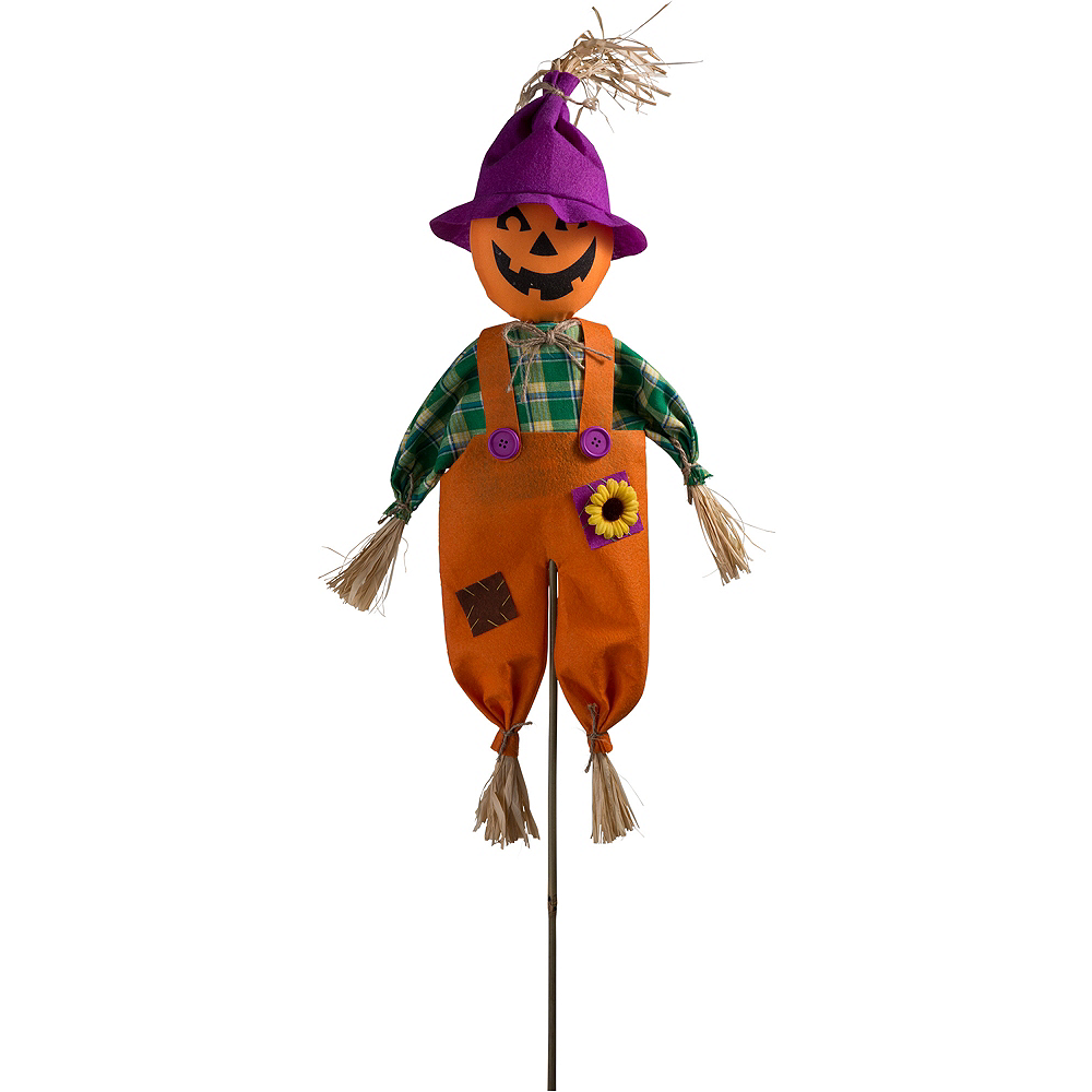 Friendly Scarecrow Yard Stake Image #1