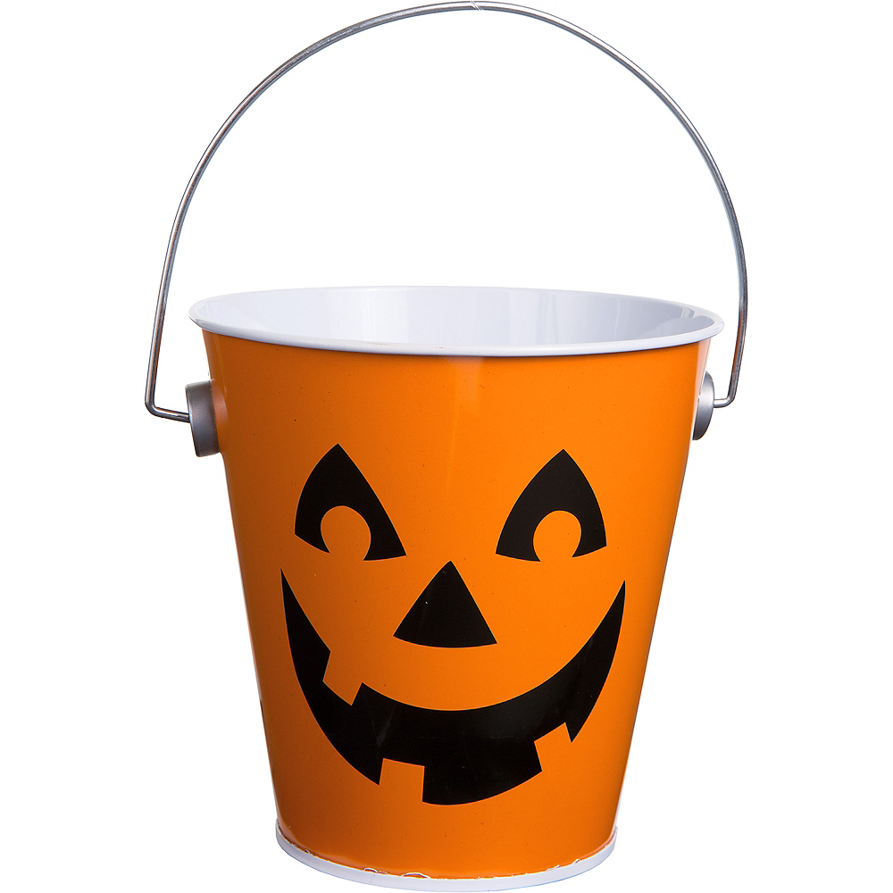 Nav Item for Jack-o'-Lantern Metal Pail Image #1