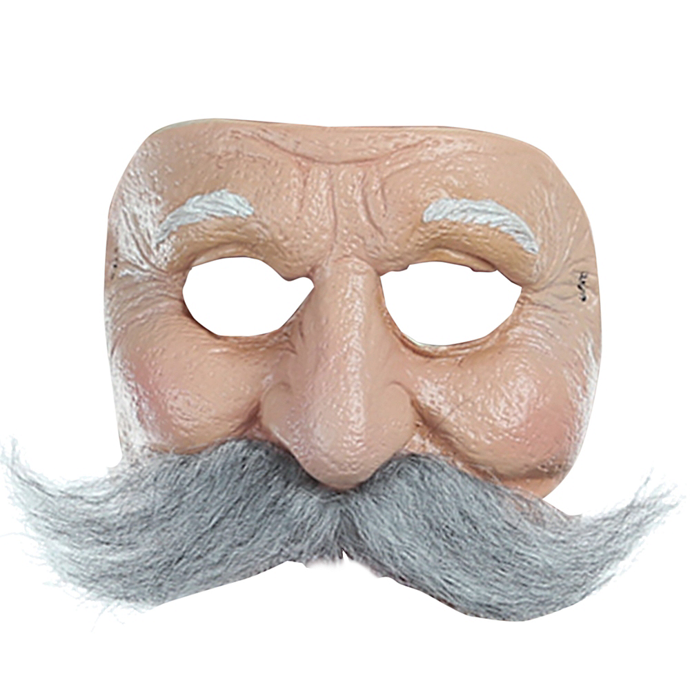 Mustached Old Man Mask Image #1