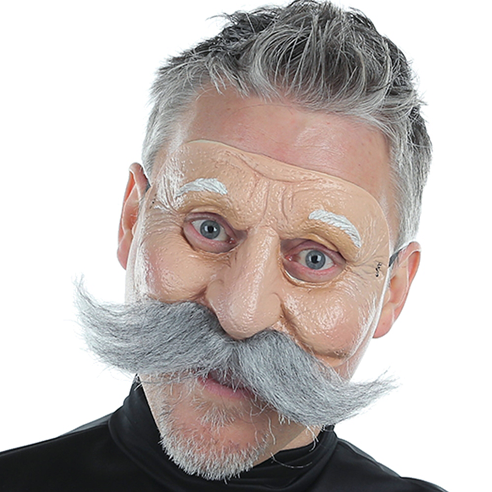 Mustached Old Man Mask Image #2