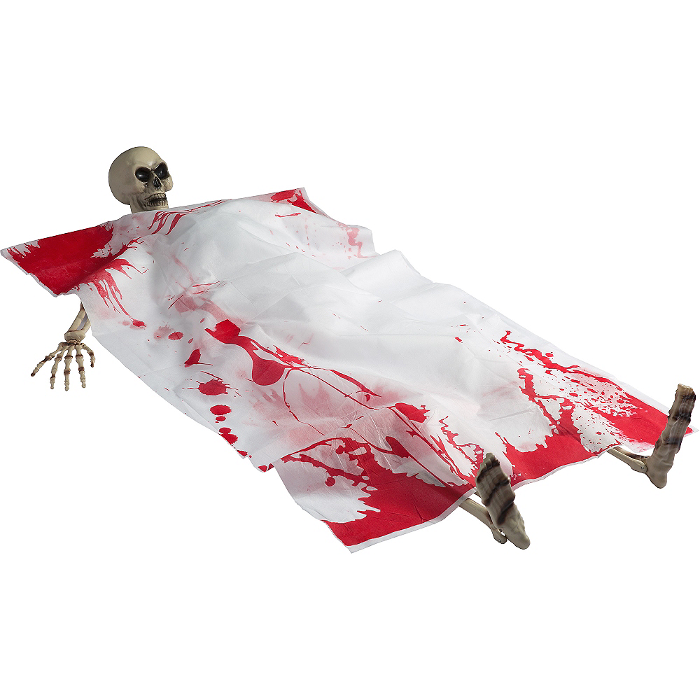 Bloody Death Bed Skeleton 5pc Image #1
