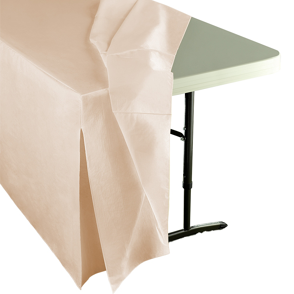 Vanilla Flannel-Backed Vinyl Fitted Table Cover Image #2