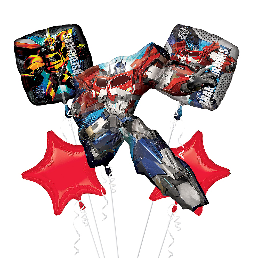 Nav Item for Optimus Prime Balloon Bouquet 5pc - Transformers Image #1