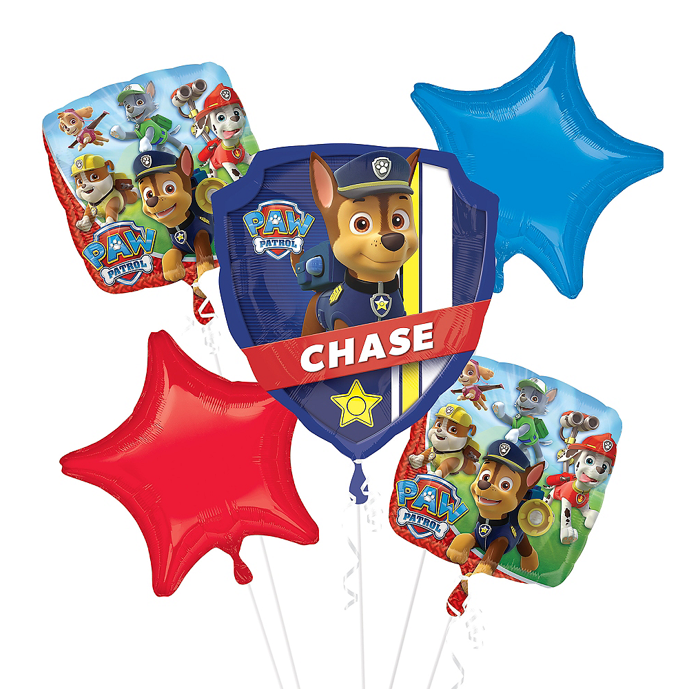 PAW Patrol Balloon Bouquet 5pc Image 1